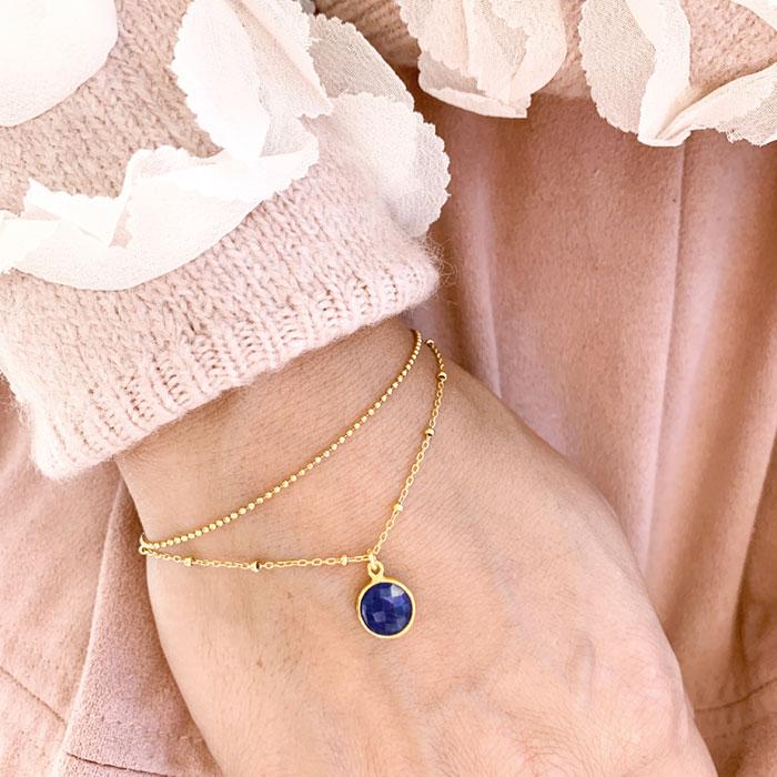 Armkette gold mit Stein monchic